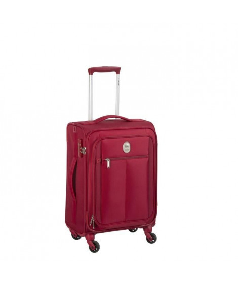 VISA DELSEY Valise Trolley Extensible Souple 4 Roues 78cm PIN UP5 Rouge