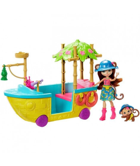 ENCHANTIMALS Bateau d'Exploratrice - Mini-poupée - 4 ans et +