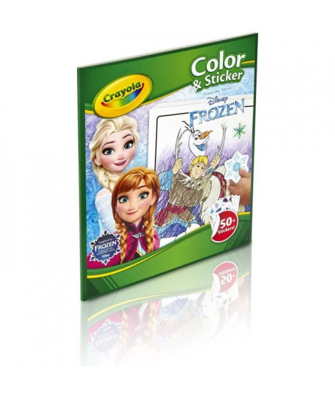 Crayola - Album de coloriage et autocollants la Reine des Neiges 2 - Disney
