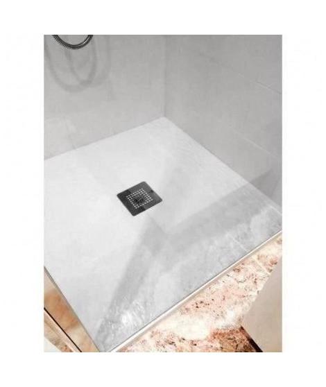 MITOLA Receveur en résine composite LIWA 90x90 blanc