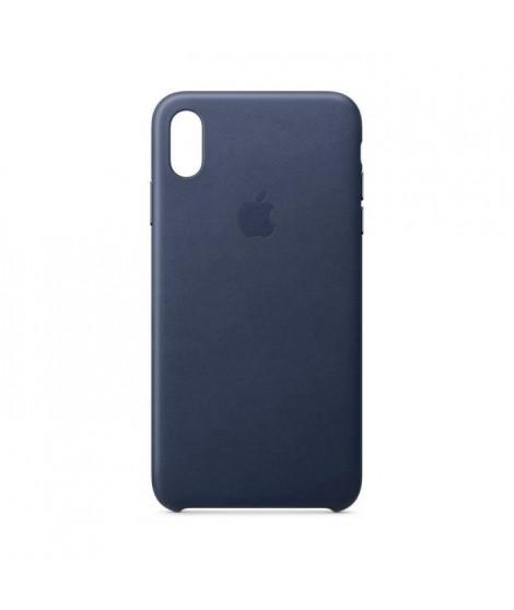 Coque en cuir pour iPhoneXSMax - Bleu nuit