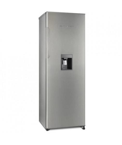 SCHNEIDER SL331IX - Réfrigérateur 1 porte - 323 L - Froid brassé - Distributeur a eau - A+ - L 59,6 x H 174,4 cm - Inox