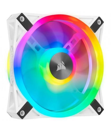 CORSAIR QL120 RGB Blanc, 120mm RGB LED Fan, Single Pack (CO-9050103-WW)