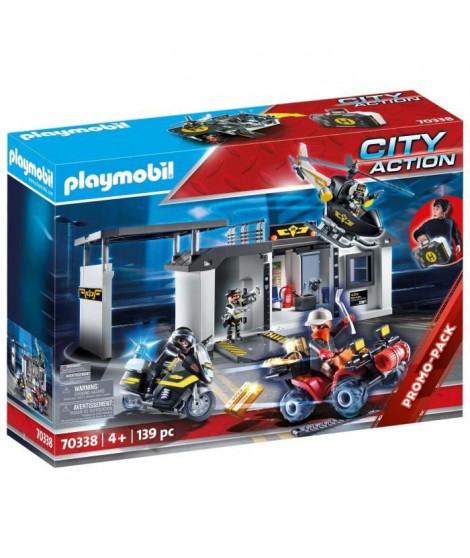 PLAYMOBIL 70338 - City Action - Quartier général transportable policiers d'élite  - Nouveauté 2020