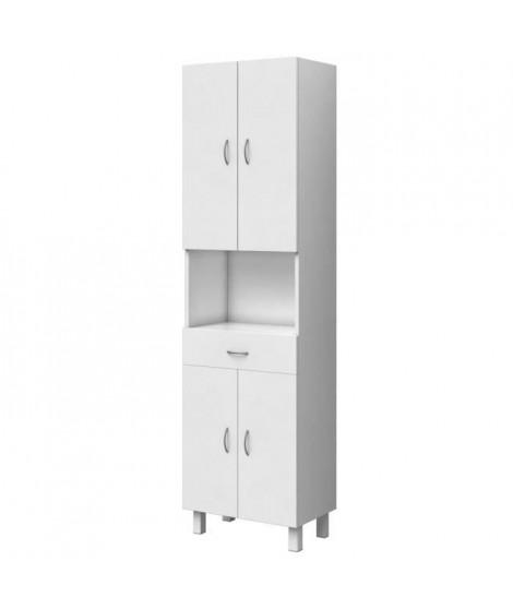 ESSENTIEL - Colonne de salle de bain 4 portes - Blanc - L 50 cm