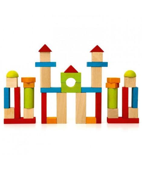 JEUJURA - Jeu de Construction en Bois, 40 Pieces
