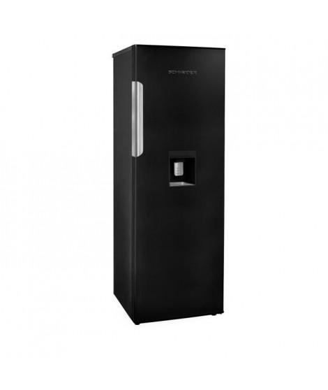 SCHNEIDER SL331B - Réfrigérateur 1 porte - 331 L - Froid brassé - A+ - distributeur d'eau - Noir Mat