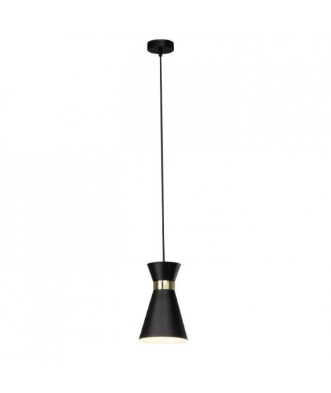 BRILLANT Suspension Goldy - Métal - E27 1x60W - Noir et or