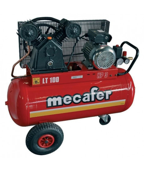 MECAFER COMPRESSEUR 100L 3HP V FONTE
