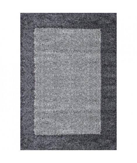 VEGA Tapis de salon Shaggy - 120 x 170 cm - Gris