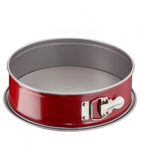 TEFAL Moule a charniere Delibake en acier - Ø 25 cm - Rouge et gris