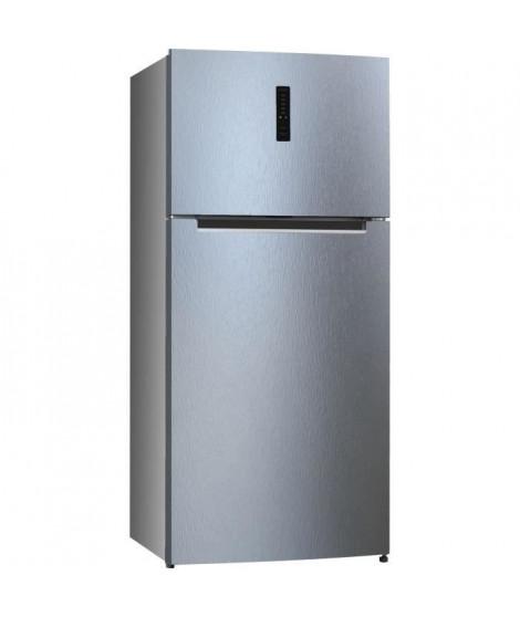 HAIER - HTM-776SNF - Réfrigerateur Double-portes - 479 L (369 + 110 L) - Froid no frost - A+ - Silver