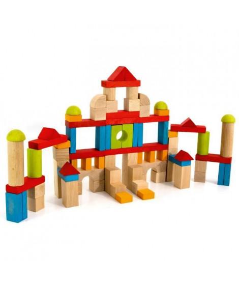 JEUJURA - Jeu de Construction en Bois, 82 Pieces
