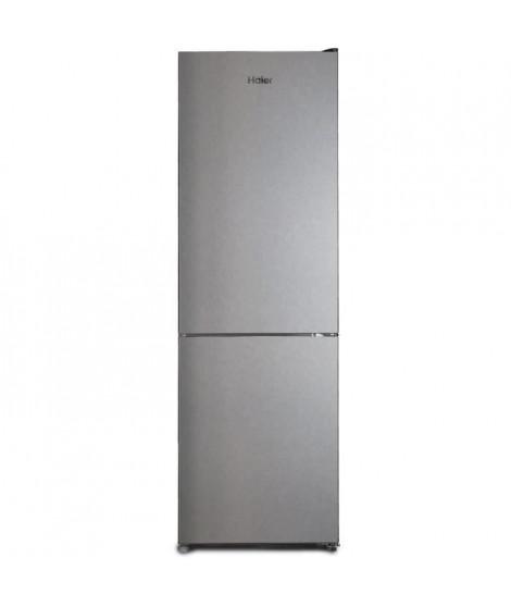 HAIER - CFE635CSE - Réfrigérateur Combiné - 317L (222L + 95L) - No-Frost - A+ - L60cm xH185cm - Silver