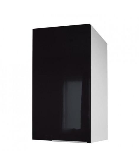 POP Meuble haut de cuisine L 40 cm - Noir haute brillance
