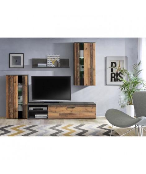 ARANTUS Ensemble meuble TV - 213 x 184 x 41,3 cm