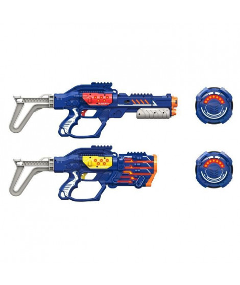 LAZER M.A.D. - Advance Battle Ops X - 2 Blasters X Version Extreme + 2 cibles + 2 crosses + 1 module a pompe + 1 module multi…
