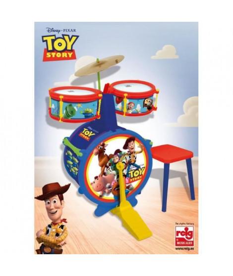 DISNEY TOY STORY Batterie - Composée de : Grosse caisse, deux tambours, cymbale, pedale, baguettes et tabouret