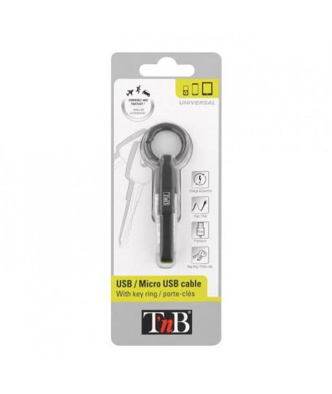 TNB Câble USB Micro USB porte-clés pour charge - Noir