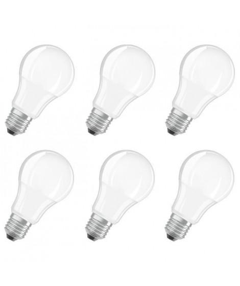 BELLALUX Lot de 6 Ampoules LED Standard verre dépoli 8,5W60 E27 froid