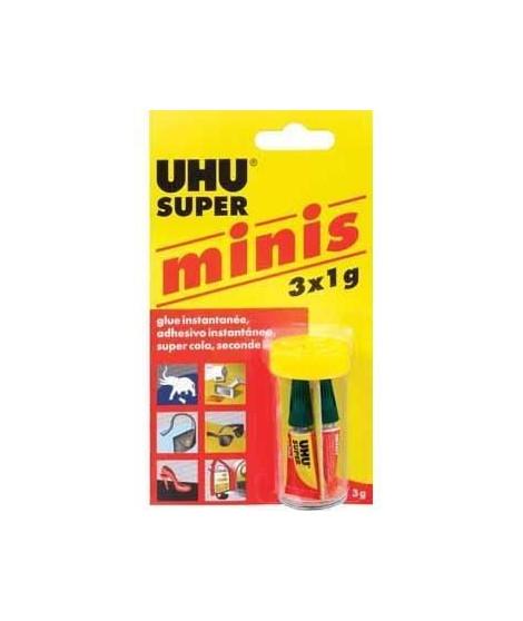 UHU Power Glue Liquide Boite Minie 3 x 1g