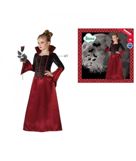 ATOSA Déguisement Vampiresse - Fille - Rouge
