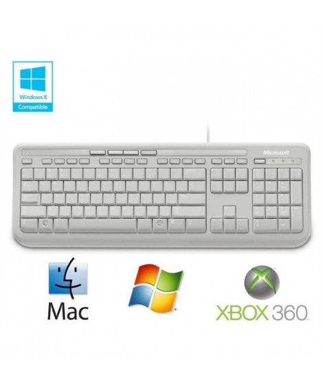 Microsoft Clavier Wired Keyboard 600 Blanc