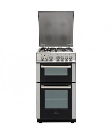 CONTINENTAL EDISON Cuisiniere 50x60 Double fours électrique - 4 feux inox