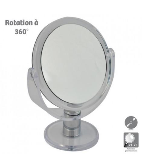 Miroir grossissant HESTEC - Double face - Rotatif a 360°