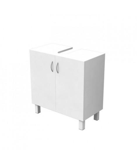 ESSENTIEL - Meuble sous lavabo 2 portes - Blanc