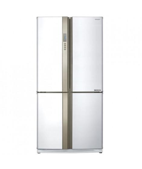 SHARP SJEX820FWH - Réfrigérateur multi-portes - 605L (394+211) - Froid ventilé No Frost - A++ - L89,2 x H183 cm - Blanc