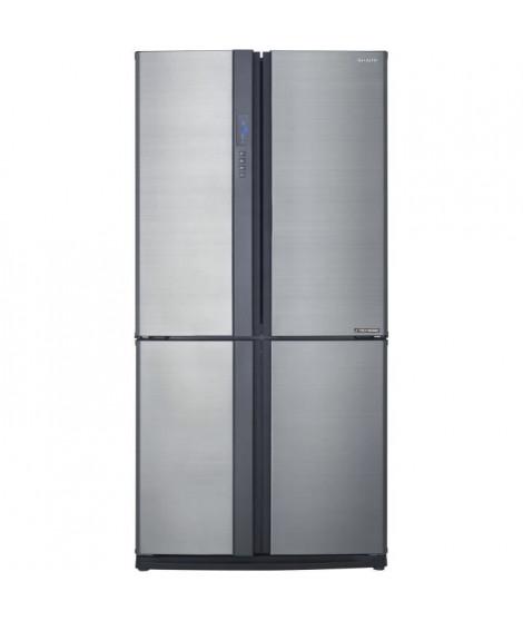 SHARP - SJ-EX770FSL - Réfrigérateur Multi-portes - 556L (345L+211L) - Froid ventilé No Frost - A++ - L89,2cm x H172cm - Sylver