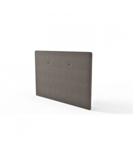 Tete de lit L 165 cm - Tissu Taupe - TALLY