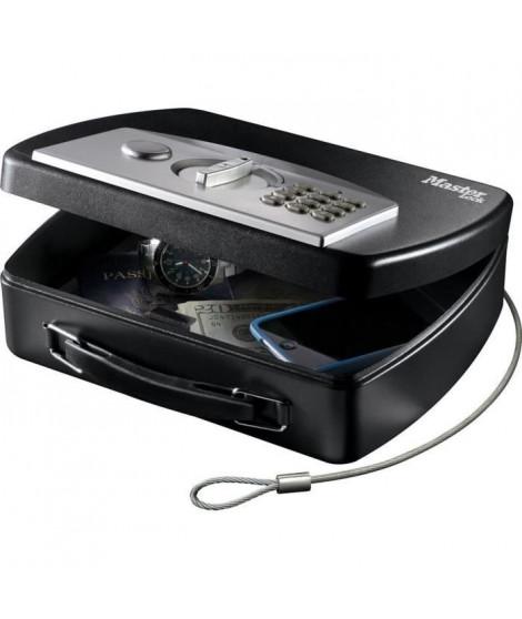 MASTER LOCK Malette de sécurité portable pour voyage avec câble - Combinaison électronique + clé