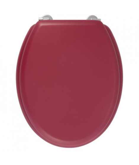 GELCO DESIGN Abattant WC Dolce - Charnieres inox - Bois moulé - Rouge cardinal