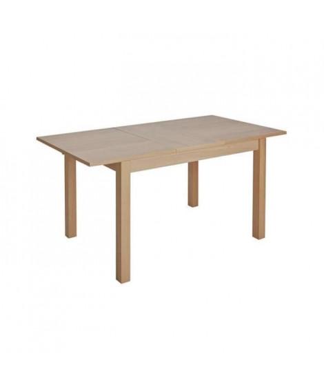 LISA Table a manger extensible 4 a 6 personnes -  Hetre massif plaqué chene - L 120/160 x P 80 x H 74 cm