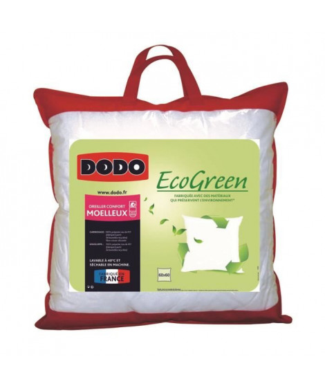 DODO Oreiller moelleux ECO GREEN - 60x60 cm