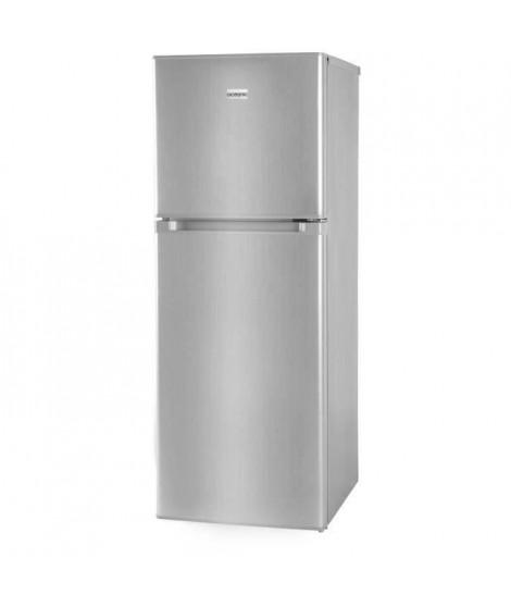OCEANIC OCEAF2D134S-Réfrigérateur-134L (95L + 39L)-2 portes-Congélateur haut-Froid statique-A+-L 48 x H 126,5 cm-Silver