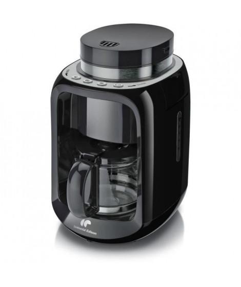 CONTINENTAL EDISON CECFBR600W Cafetiere filtre avec broyeur - Noir