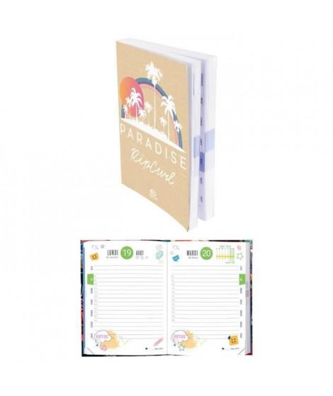 RIP-CURL Agenda scolaire 320 pages - 1 jour par page - 120 x 170 mm - Papier PEFC - Couverture rognée Vif Carte Pell Mat