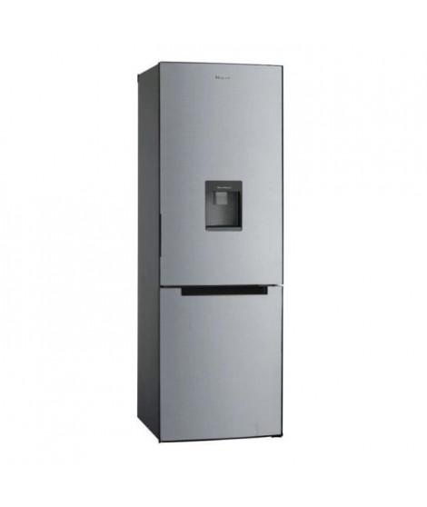 HAIER HBM-686SWD - Réfrigérateur congélateur bas - 309L (220+89) - Froid statique - A+ - L 60cm x H 185cm - Silver