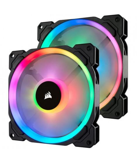 CORSAIR Lot de 2 ventilateurs LL140 RGB - Dual Light Loop LED 140mm - Lighting Node PRO