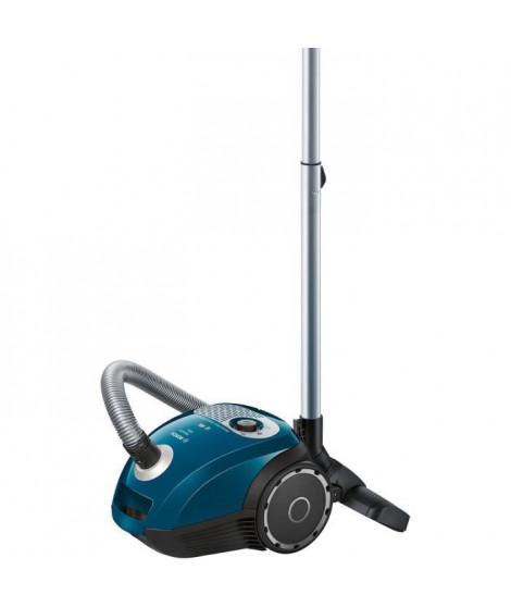 BOSCH BGL25A310 Aspirateur avec sac - Capacité du sac : 3,5 L - Filtre hygiénique lavable - 80dB - Bleu