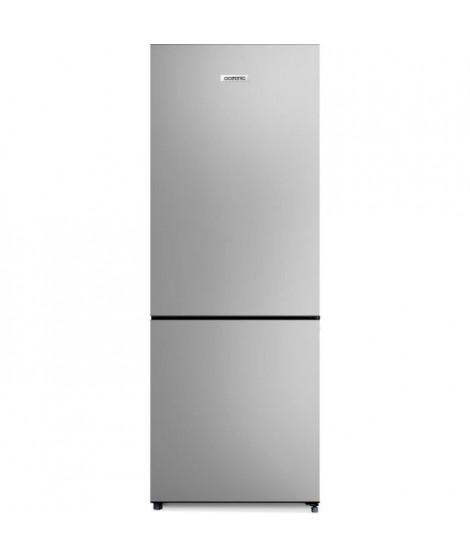 OCEANIC OCEAFC207S Réfrigérateur combiné 206 litres ( 153 +53),Froid statique, L 55  cm x H 144 cm, Classe A+ , SILVER