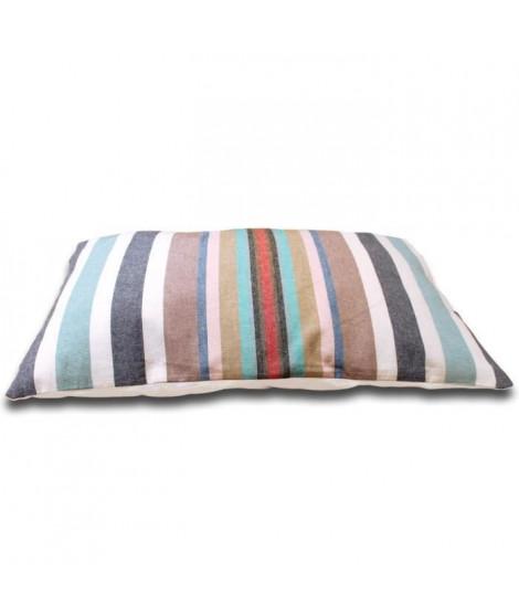 SOLEIL D'OCRE Coussin Stripes 32x50 cm bleu