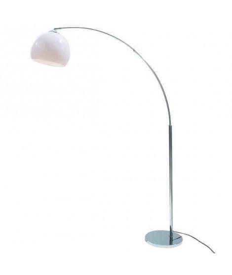 DESI Lampadaire arceau blanc - H 166 cm - Contemporain