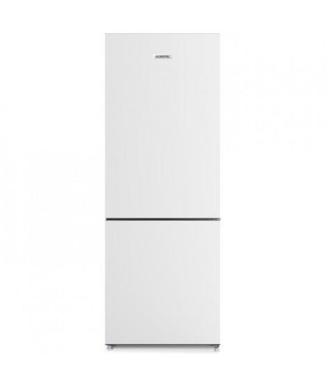 OCEANIC OCEAFC207W Réfrigérateur combiné 206 litres ( 153 +53),Froid statique, L 55  cm x H 144 cm, Classe A+ , BLANC