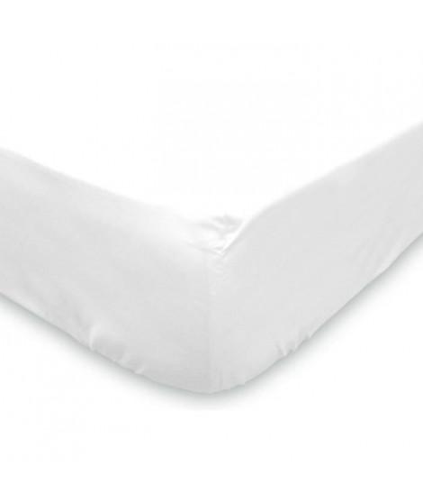 SOLEIL D'OCRE Protege-matelas molleton 90x190 cm blanc
