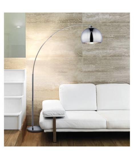 DESI Lampadaire arceau chrome - H 166 cm - Contemporain