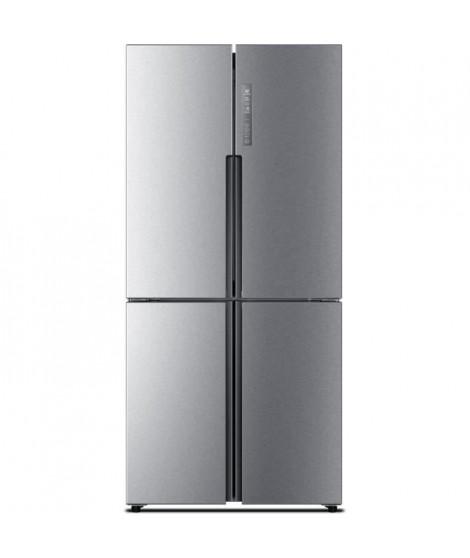 HAIER HTF-456DM6 - Réfrigérateur multi-portes - 456L (316+140) - Froid ventilé - A+ - L 83cm x H 180cm - Inox